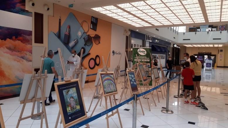 40. Uluslararası Pınar Resim Yarışması Eserleri Karşıyaka MaviBahçe AVM ve Point Bornova'da